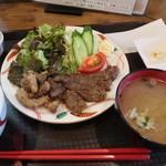 いわて門崎丑牧場 - 牛ロースステーキ定食 ¥1,500