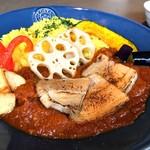 craftbeer Gau's - イベリコ豚カレー 炙り塩豚トッピング