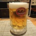 ちゃ味鶏 - キリンラガービール中ジョッキ
