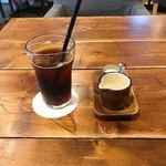 カフェ フクバコ - ランチのドリンク アイスコーヒー