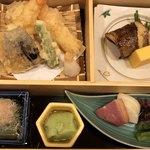 個室会席北大路 日本橋茶寮 - 天ぷら、焼魚、小鉢、漬物