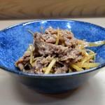 家庭料理 小川 - 牛肉しょうが煮