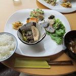 カフェ・あひる - 料理写真:日替わりランチ【アジの塩麹焼き】(700円)