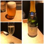 TTOAHISU - ◆まずは「ビール」と「シャンパン」を。