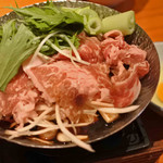 旬の御馳走 望月 - 鍋ものも食べてみましょう~ということで、 牛すき小鍋。