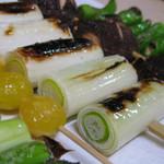 野菜焼盛り合わせ(串5本)