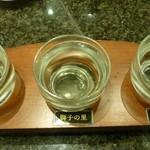 金沢まいもん寿司 - 地酒呑み比べ