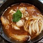 87249753 - 牛肉汁つけ麺 小盛