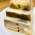 パン ド サンジュ - 一応とびばこパンなので横にスライス