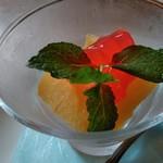中国料理 桃仙 - 清見オレンジのシャーベット