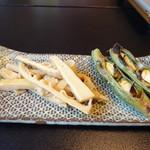 大和 - 真竹の煮物と焼そら豆