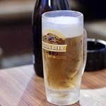 元祖 台湾もつ鍋 仁 - 生ビール