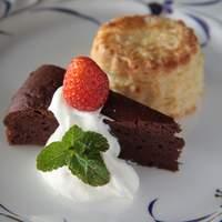カフェ エ クラフト ユエ - 日替わり手作りケーキセットにはビスケットもつきます