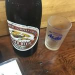 ていしゃば - 瓶ビール(中)キリンで(450円)
