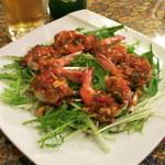 ガパオ - クンハンサー(激辛の海老と水菜)780円