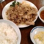 三ちゃん食堂 - ヤキ肉ライス 750円