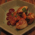 Kankokuanjupontochourinanha - 2011.7 黒毛和牛ハラミチョンゴル韓定食:ポッサムキムチ