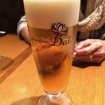 アジアンビストロDai - まずはビールで