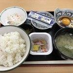岩手山サービスエリア(上り線) スナックコーナー - 納豆定食