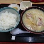 87273530 - とん汁定食(並盛)950円