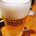 GYOOOZA!! - 店長ありがとう♪( ´▽`)メガサイズでビール!