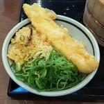 丸亀製麺 - いか天 ねぎ天かすのっけ天丼 →これで240円(2018.06.08)