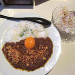 ミスターカンソ - 料理写真:キーマカレー、野菜サラダ(2018/06/07撮影)