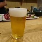 """はらぺ子 - とりまビールなのだ(๑•̀д•́๑)ひ""""-ʓ ひ""""-ʓ !うすはりグラス♡"""