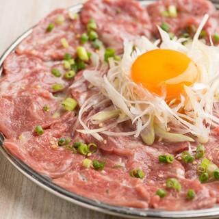 【鮮度抜群!肉刺し】料理長厳選!安心・安全の肉刺しをご用意♪