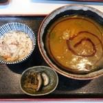 長野屋  - カレーそばとミニたきこみご飯