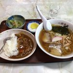 一好食堂 - らーめんとミニカレー ¥900
