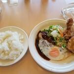 ビィドリーム - 料理写真:ハンバーグ&鶏の唐揚げランチ ライス大盛り