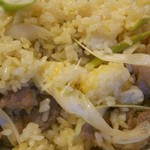 三珍 富士力食堂 - チャーハン  豚・ネギ塩のアップ
