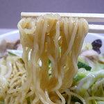 うまいっしょ  - 上海風焼そば(750円+大盛り150円)~麺
