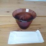 モトコーヒー - ☆お水グラスもなんだかお洒落です(^◇^)☆
