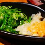 こだわり米 匠 - 極上大判炙り寿司の薬味
