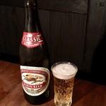 焼肉 仙珠 - 瓶ビール(630円)