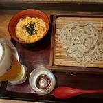 蕎麦 冷麦 嵯峨谷 - 親子丼セット:620円