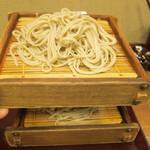 蕎麦 冷麦 嵯峨谷 - 二枚もり:590円