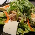 創作和食 個室居酒屋 楓葉の響 - 豚しゃぶと寄せ豆腐(880円)
