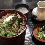平和そば本店 - 三色割子蕎麦 @950