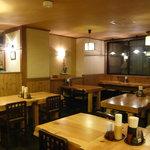 上州麺処 平野家 - 窓の向こうは草津のシンボル『湯畑』