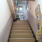 カレーショップ 酒井屋 - 店舗までの階段