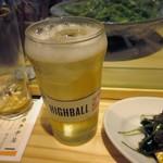 ネオメグスタ - アルコールはハイボール400円でチョイ飲み。