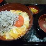 鎌倉 鶏味座 - '18/06/09 湘南しらす卵とじ丼(税込1,080円)