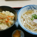 ほの香 - 海老天丼セット800円(税込)