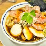 手打式超多加水麺 ののくら - '18.03特製(醤油)+チャー