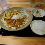 カレーうどん ひかり - 冷カレーうどんセット(1050円)