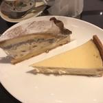 87314839 - モンブランタルト チーズタルト                       スイーツバイキングは種類はそこまで多くないため、全種類楽しめそうです。