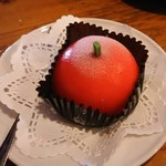 レストラン木木 - ちょっと凍ってるリンゴのデザート